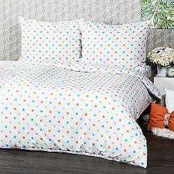 4Home Bavlnené obliečky Dots oranžová, 140 x 200 cm, 70 x 90 cm