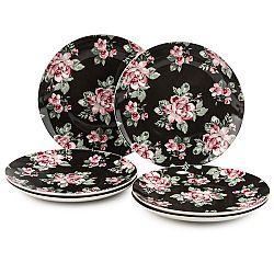 Altom 6-dielna sada dezertných tanierov Paris Rose, 20 cm, čierna