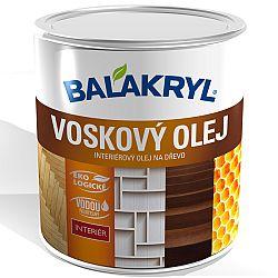 Balakryl Voskový olej BALAKRYL - interiérový olej na drevo (podlaha, nábytok, steny) - dub sivý - 0,75 l