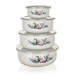 Banquet 8-dílná sada smaltovaných misek Lavender 10x4,7cm 14x6,1cm 16x6,8cm 18x7,5cm