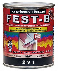 BARVY A LAKY HOSTIVAŘ, a.s. FEST-B - S2141 farba na strechu a konštrukcie  - 0111 - šedá - 2,5 Kg