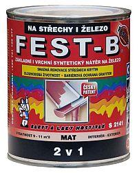 BARVY A LAKY HOSTIVAŘ, a.s. FEST-B - S2141 farba na strechu a konštrukcie  - 0845 - tehlová - 0,8 Kg