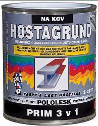 BARVY A LAKY HOSTIVAŘ, a.s. HOSTAGRUND PRIM 3v1- mutifunkčná základná i vrchná farba - 0131 - šedý - 0,6 L