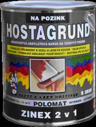 BARVY A LAKY HOSTIVAŘ, a.s. HOSTAGRUND ZINEX S2820 - farba 2v1 na ľahké kovy - RAL 9006 - strieborná - 2,5 L