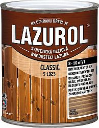 BARVY A LAKY HOSTIVAŘ, a.s. LAZUROL Classic S 1023 - lazúra na drevo - 10 - biely - 0,75 L