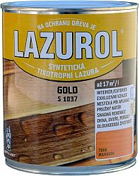 BARVY A LAKY HOSTIVAŘ, a.s. LAZUROL GOLD S 1037 - hrubovrstvá lazúra na drevo - T021 - orech - 0,75 L