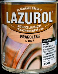 BARVY A LAKY HOSTIVAŘ, a.s. LAZUROL PRAGOLESK C 1037 - LESKLÝ acetónový lak - bezfarebný - lesklý - 0,75 L