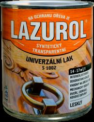 BARVY A LAKY HOSTIVAŘ, a.s. Lazurol S 1002 - Syntetický lak na drevo a lak na kov - bezfarebný - lesklý - 0,75 L