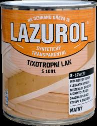 BARVY A LAKY HOSTIVAŘ, a.s. LAZUROL - S 1091 LAK TIXOTROPNÝ - nestekajúci lak na drevo - bezfarebný - lesklý - 0,75 L