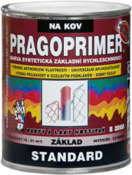 BARVY A LAKY HOSTIVAŘ, a.s. PRAGOPRIMER Standard S 2000 - antikorózna základná farba na kov - 0110 - šedá - 0,6 L