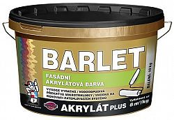 BARVY A LAKY TELURIA, s. r.o. BARLET AKRYLAT PLUS - fasádna farba - miešanie na zakázku - biely - 5 Kg
