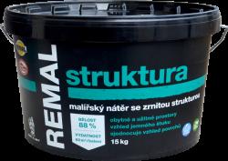 BARVY A LAKY TELURIA, s. r.o. REMAL STRUKTURA - farba s hrubozrnnou štruktúrou - biela - 7,5 Kg