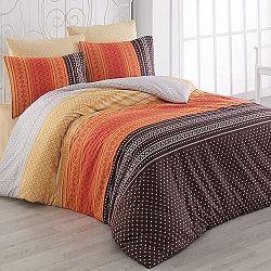 Bedtex obliečky bavlna Summer Oranžové, 140 x 220 cm, 70 x 90 cm