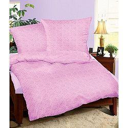 Bellatex Krepové obliečky fialová, 140 x 200 cm, 70 x 90 cm