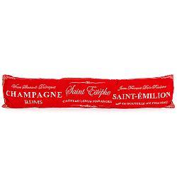 BO-MA Trading Ozdobný tesniaci vankúš do okien Champagne červená, 90 x 20 cm