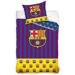 Carbotex Bavlnené obliečky FC Barcelona Erby, 140 x 200 cm, 70 x 90 cm