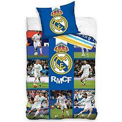 Carbotex Bavlnené obliečky Real Madrid Mozaika, 140 x 200 cm, 70 x 80 cm