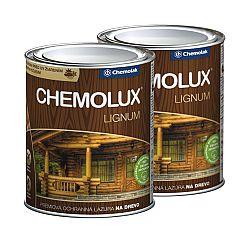 Chemolak Chemolux Lignum - prémiová ochranná lazúra na drevo - vlašský orech - 0,75 L