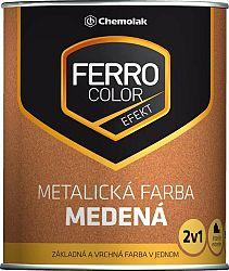 Chemolak FERRO COLOR efekt 2v1 medená - metalická farba - medená - 0,75 L