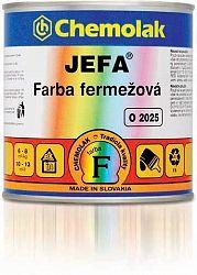 Chemolak O 2025 JEFA - fermežová farba - 1000 - biela - 0,75 L