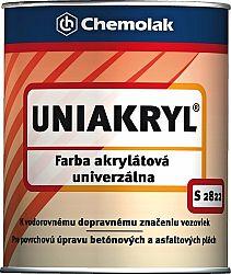Chemolak S 2822 Uniakryl - farba na značenie ciest a na asfalt a betón - 0100 - biela - 10 Kg