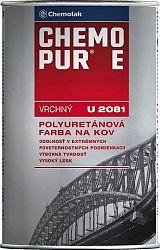 Chemolak U 2081 CHEMOPUR E- vrchná polyuretánová farba na kov, betón, drevo - 6201 - žltá stredná - 0,8 Kg