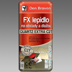 Den Braven FX lepidlo QUARTZ EXTRA C2T na obklady a dlažbu - šedá - 25 kg