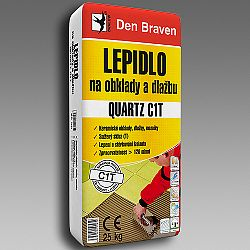 Den Braven Lepidlo na obklady a dlažbu QUARTZ C1T - šedá - 25 kg