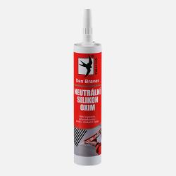 Den Braven Neutrálny silikón OXIM - tesnenie a lepenie zasklievacích systémov do drevených okenných rámov - šedá - 310 ml