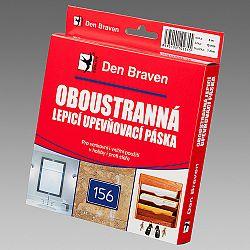 Den Braven Obojstranne lepiaca a upevňovacia páska v krabičke - biela - 25mmx1 mm