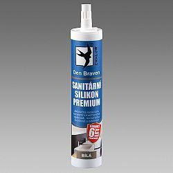 Den Braven Premium sanitárny silikón - pružný a odolný silikón - biela - 310 ml