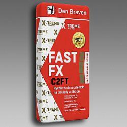 Den Braven Rýchlotvrdnúce lepidlo FAST FX C2FT na obklady a dlažbu - šedá - 12 kg