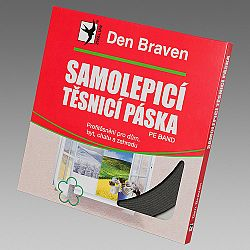 Den Braven Samolepiaca tesniaca páska do okien a dverí - biela - 9mmx2 mm