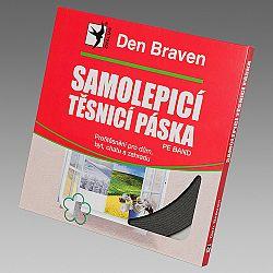 Den Braven Samolepiaca tesniaca páska do okien a dverí - šedá - 9mmx3 mm