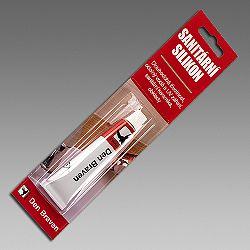 Den Braven Sanitárny silikón - pružný a odolný silikón - strieborno šedá  - 310 ml