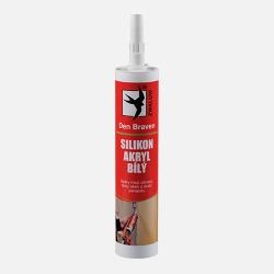 Den Braven Silikón akrylový tmel na opravu trhlín v omietke, dreve, betóne - biela - 310 ml