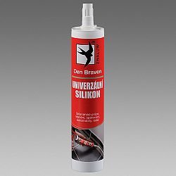 Den Braven Univerzálny silikón na smalt, dlaždice a kovy - biela - 600 ml
