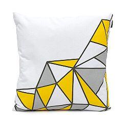 Domarex Obliečka na vankúš Yellow Space Love SEMI, 45 x 45 cm