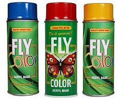FLY FLY COLOR - akrylová farba v spreji - RAL 9005 satén - Čierna satén - 400 ml