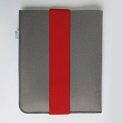 Fragile puzdro na iPad 21 x 26 cm s červenou gumičkou