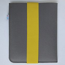Fragile puzdro na iPad 21 x 26 cm so žltou gumičkou