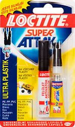 HENKEL Loctite Super Attak Ultra Plastik 2g+4ml - 2g +4 ml