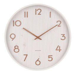 Karlsson 5809WH Dizajnové nástenné hodiny pr. 40 cm
