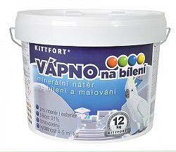 KITTFORT Vápno hasené  - vápno na bielenie - biela - 6 Kg