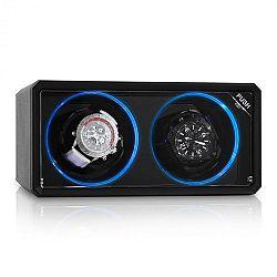 Klarstein 8LED2S, naťahovač na hodinky, 2 hodiniek, LED efekt, čierny