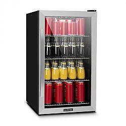 Klarstein Beersafe 4XL, chladnička, na nápoje, 124l, 0-10°C, sklo, A+, nerezová oceľ