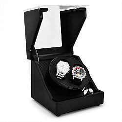 Klarstein CA1PM, naťahovač na hodinky, 2 hodiniek, karbónový vzhľad