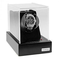 Klarstein Ermitage, naťahovač na hodinky, 1 hodinky, 2 režimy otáčania, sieťová prevádzka a prevádzka na batérie, čierny