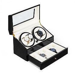 Klarstein Geneva, naťahovač na hodinky, 4 hodiniek, 4 režimy, zásuvka, čierny