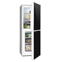 Klarstein Luminance Frost kombinovaná chladnička s mrazničkou 98/52l A+++ sklený predok, čierna farba